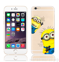 Чехол для iPhone 6/6Plus I Love Minions Two