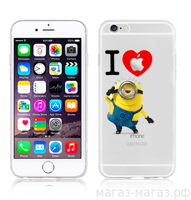 Чехол для iPhone 6/6Plus I Love Minion