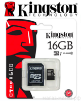 Micro SD Kingston 16GB