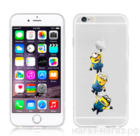 Чехол для iPhone 6/6Plus Minions Three