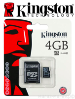 Micro SD Kingston 4GB